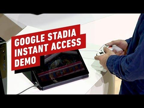 Google Stadia Instant Access Demo - GDC 2019