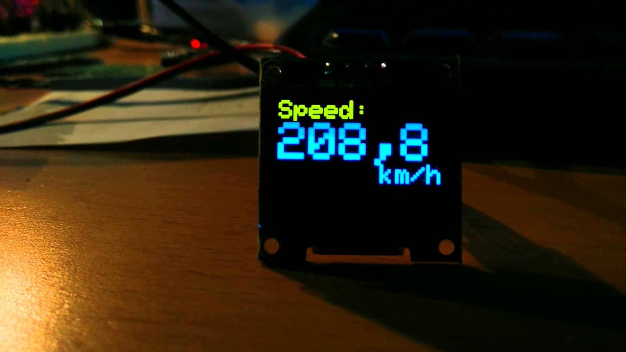 Arduino model railroad speedometer