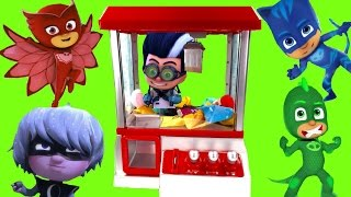 PJ Masks Play the CLAW MACHINE for Toys!
