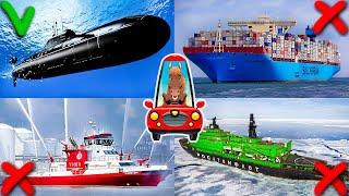 Корабли для Детей. Изучаем Водный Транспорт. Развивающее Видео для Малышей