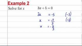 GCSE Maths Revision - Solving Linear Equations (1) thumbnail