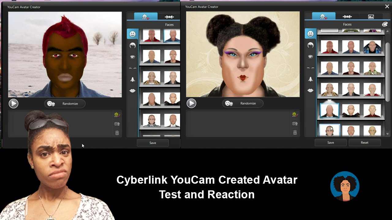 Windows 10 Cyberlink YouCam Created Avatar Test and Reaction