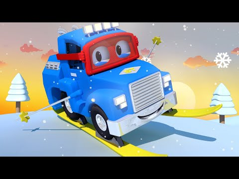 CHRISTMAS SPECIAL - The SKI Truck - Carl the Super Truck in Car City | Children Cartoons