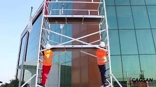 Rusztowanie aluminiowe BRIKS by Cagsan ProTUBE L - podest 1,20m X 2,40m ( Certyfikat TÜV )
