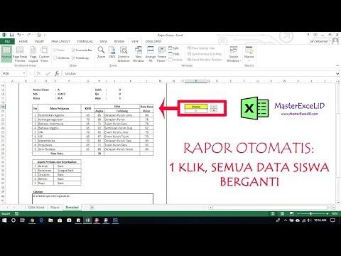 Video Cara Membuat Aplikasi Nilai Dengan Excel