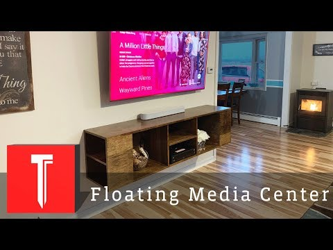 How To Build A Floating Entertainment Center!