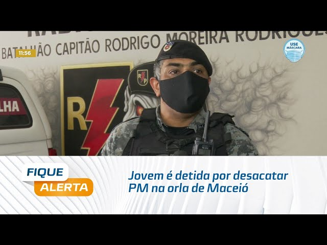Após confusão em bar, jovem é detida por desacatar PM na orla de Maceió