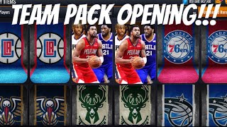 TEAM PACK OPENING IN NBA LIVE MOBILE 20!!!