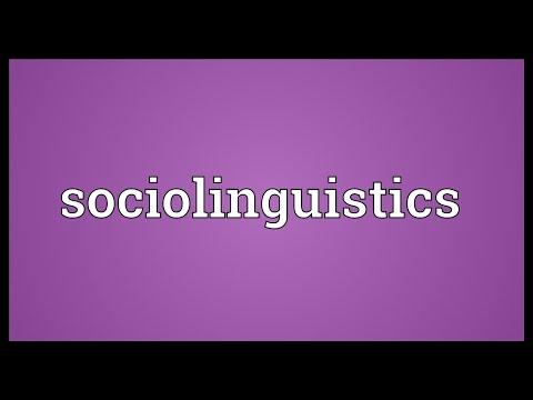 Sociolinguistics Meaning