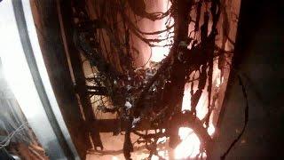 На 15 этаже горит электрощит г. Омск 2016(27.02.16. 19.23 произошел пожар 15 этажном жилом доме по адресу ул. Декабристов 116. Пожарными подразделениями по..., 2016-03-14T10:06:17.000Z)