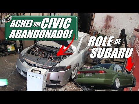 """DAILY VLOG7008 - ACHEI UM CIVIC ABANDONADO! ROLE DE SUBARU """"TALA TODAS"""""""