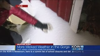 Gorge gets 2nd round of ice, blustery showers in PDX