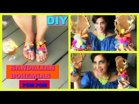 El Pompones Para Sandalias Con BorlasYoutube Diy Verano Y UMpSzqV