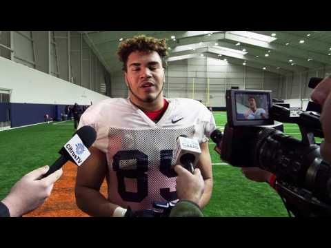 Syracuse Spring football - Defensive lineman Josh Black