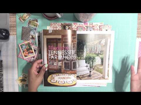 DIY - Recycled & Repurposed Magazine Images & Old Book Pages Into Embellishments
