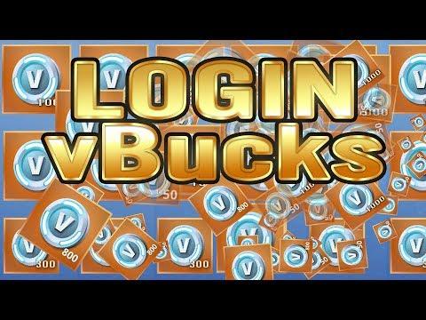 Fortnite   Login VBucks   First 6300 VBucks Breakdown   800 VBucks   300 VBucks   150 VBucks