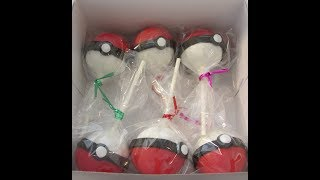 Pokemon Pokeball Cake Pops