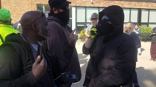 Antifa protester calls a black man an Uncle Tom and gets owned