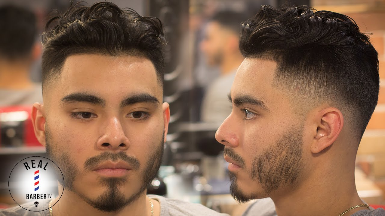 Men S Haircut Curly Hair Drop Fade Skin Fade Haircut