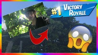 WINNING A GAME OF FORTNITE IN A REAL LIFE TREE! (Fortnite Battle Royale)
