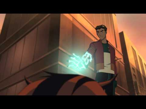 Heroes United Ben 10's Lodestar and Wrath help Generator Rex
