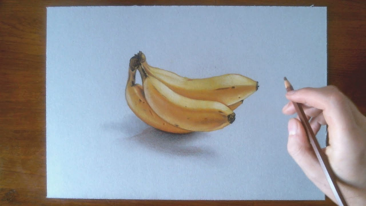Speed Drawing 3D Bananas
