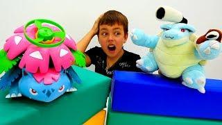 Соревнования Покемонов: Мега Бластойз и Венузавр!  Видео игрушки