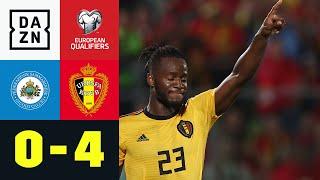 Doppelter Batshuayi schießt Belgien zum Pflichtsieg: San Marino - Belgien 0:4 | EM-Quali | DAZN