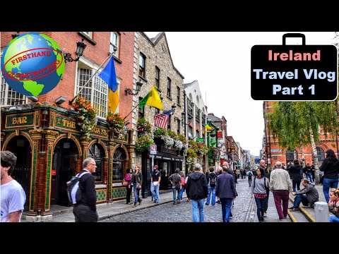 Ireland throwback vlog - Part 1! Dublin, pubs, busy streets, Irish charm, and historic buildings!