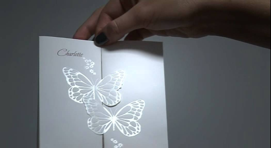 Butterfly Kisses\' Wedding Invitation - Bride & Groom - YouTube