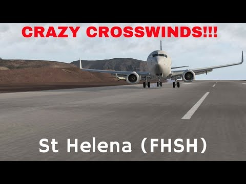 X-Plane 11 - St Helena - CRAZY Crosswinds!!!