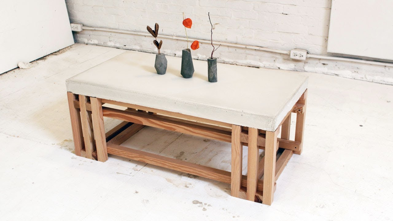 HomeMade Modern, Episode 15    DIY Concrete + Wood Coffee Table   YouTube