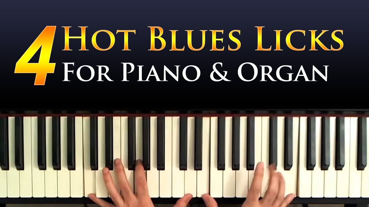 Blues lick for piano