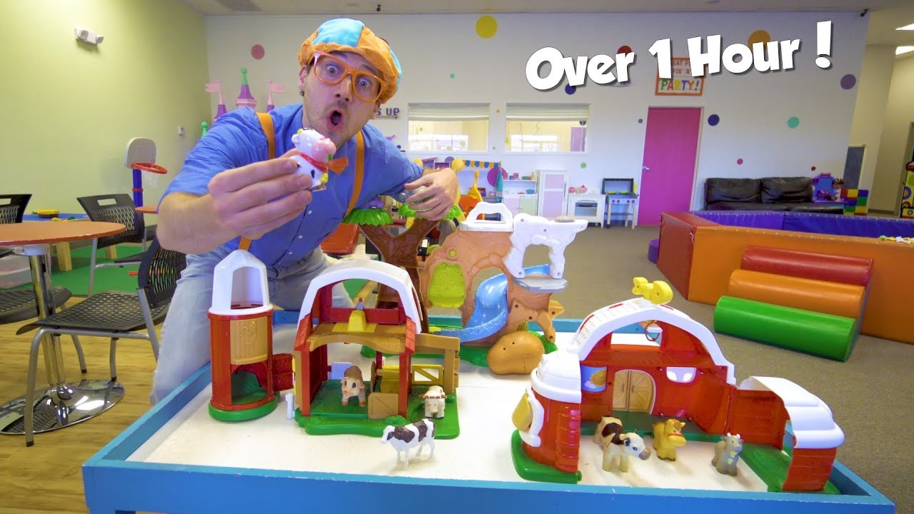 Educational Videos For Toddlers With Blippi Toys 1 Hour