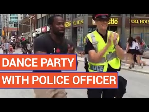 Police Officer Participates in Dance Party 2016 | Daily Heart Beat