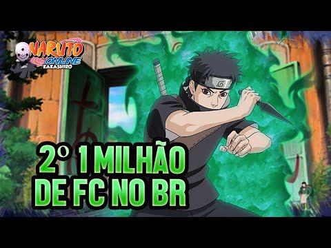 2º 1 MILHÃO DE FC NO BR! COMPARANDO A EVOLUÇÃO   Naruto Online