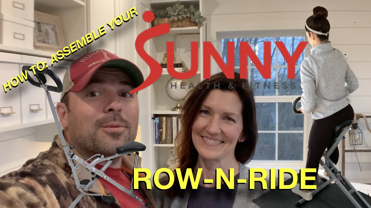 HOW to: assemble the Sunny Health & Fitness upright Row-N-Ride Exerciser