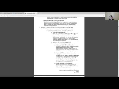 ICD10 Coding Guidelines - Chapter 1 Coding Guidelines Part 1