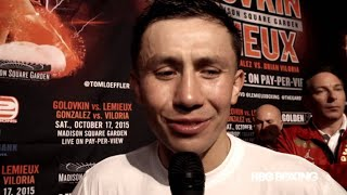 WHAT DOES GOLOVKIN THINK ABOUT JERMALL CHARLOS KNOCKOUT WIN?