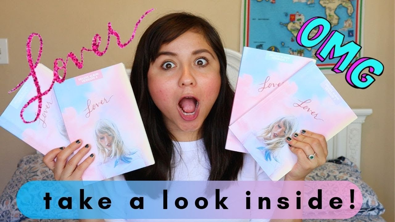 unboxing lover deluxe albums taylor swift