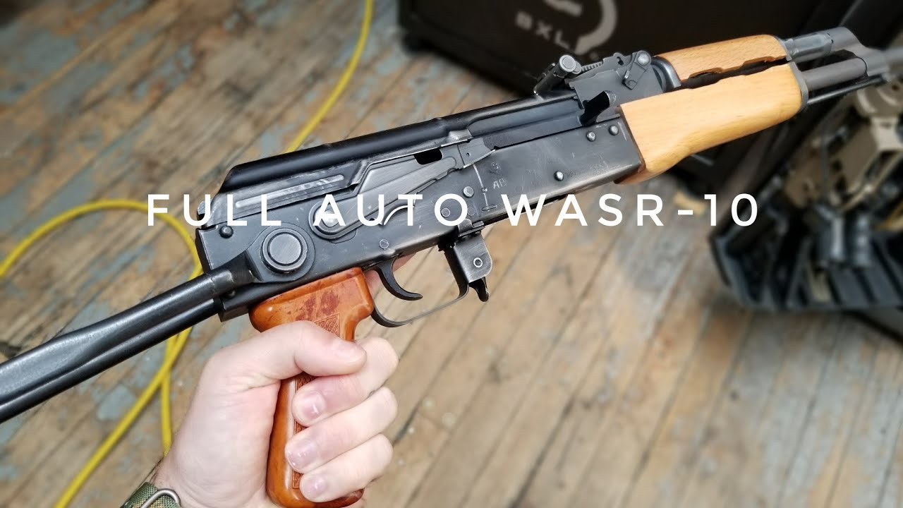 FULL AUTO WASR-10UF AK-47 - Cycling Frangible Ammo