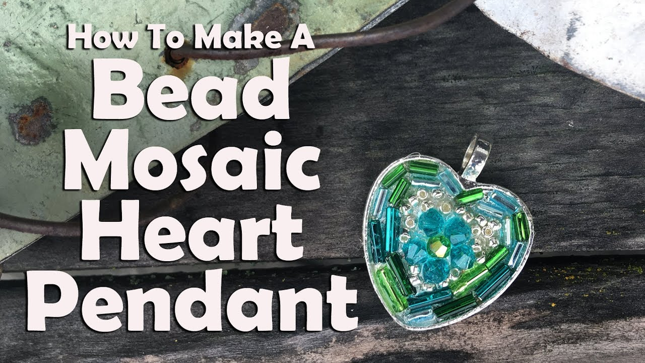 How to make a bead mosaic heart pendant easy jewelry tutorial youtube how to make a bead mosaic heart pendant easy jewelry tutorial aloadofball Image collections