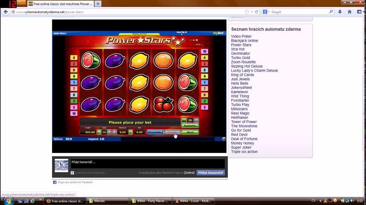Video Slots Zdarma