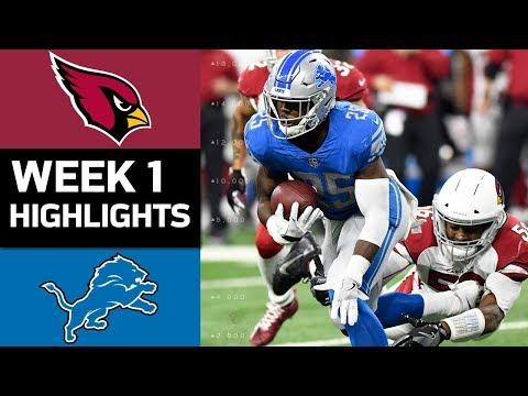 Cardinals vs. Lions | NFL Week 1 Game Highlights