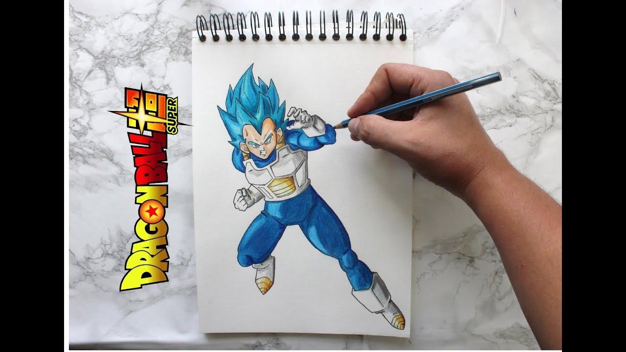 Comment Dessiner Vegeta How To Draw Vegeta Dragon Ball Super