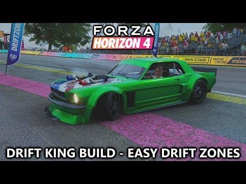 Forza Horizon 4 - Drift King Build for Easy 3 Star Drift Zone PR Stunts