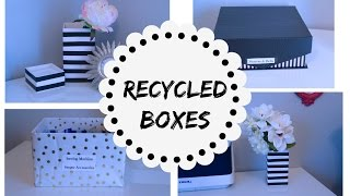 RECYCLED BOXES, BUDGET HOME ORGANIZATION