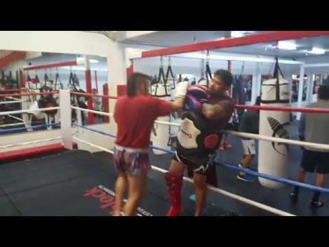 Training @ Fight Capital Gym In Las Vegas, NV.