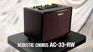 AC-33-RW Acoustic Chorus Guitar Amplifier: Introduction part 1