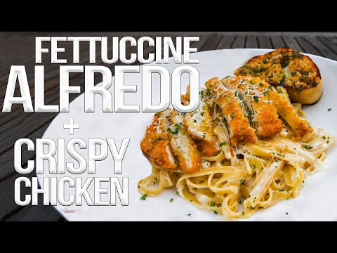 The Best Fettuccine Alfredo with Chicken | SAM THE COOKING GUY 4K